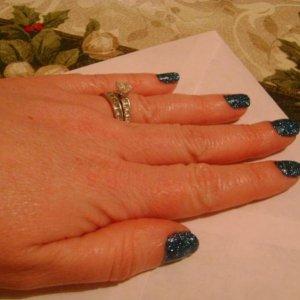 rock star blue on myself