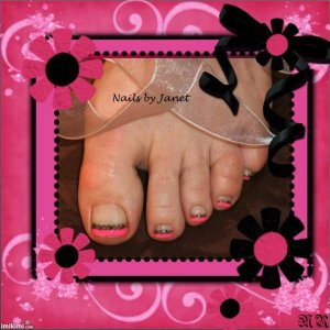 Punk pink toes