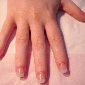 Natural tips pink acrylic