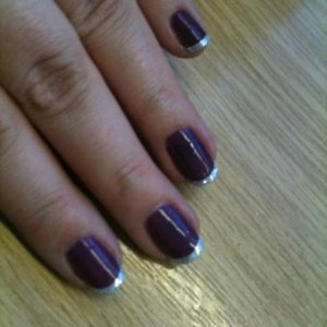 Shellac - Rock Royalty with layer of Beau and glitter tips courtesty of the new video Holly has just published xx