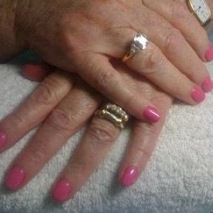 B, Shellac Hotpop Pink and Negligee