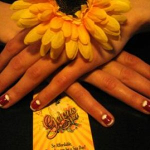A 1940s vintage mani (half moon mani) as requested by a client... turned out not too bad!