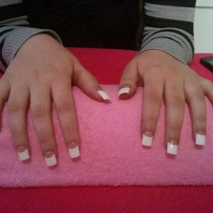 my cousin with gels after