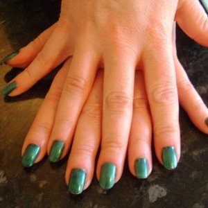 Blackpool and iced coral shellac - week old today