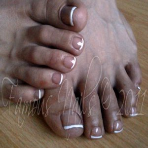 First go at Polish Pro french on (my own) toe nails :)