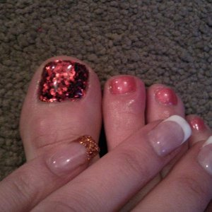 Rockstar with Shellac Toes and Gel fingers