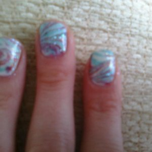 First attempt at water marbling...