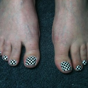 Spotty Minx toes for a fellow Geek x