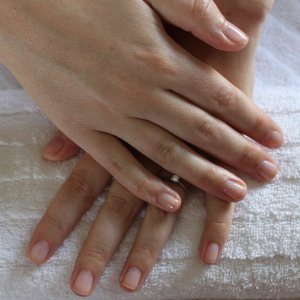 Simply Sheer for a client just wanting to strengthen her natural nails