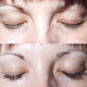 before and after set of party lashes