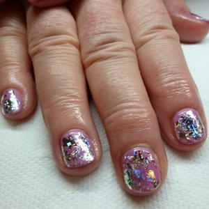 Gel 109 with Silver Snowflake Foil