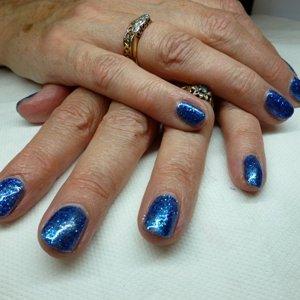 Gel 2066 with Royal Blue Gliter