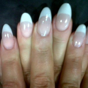 almond pink and white sculpts