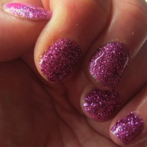shellac and glitter
