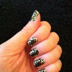 gold & black cheetah minx