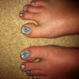 black & white zebra minx