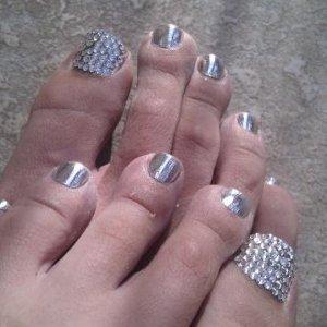 Minxlusion squares & swarovski crystal big toes!!