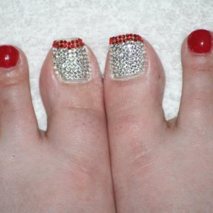 Crystal pedicure with Decadence Shellac