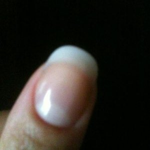 Bio sculpture nail sculpture using no 1 white and no. 89 pink. i find it very natural looking.