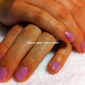 Bio Sculpture colors Lilac Lullaby & Crystal Brust