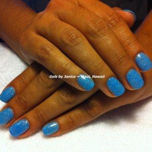 Bio Sculpture colors Polar Blue & Crystal Brust
