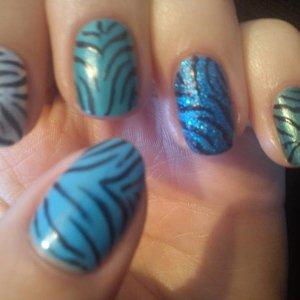 Blue/Green Zebra