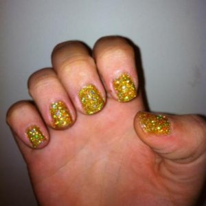 gold holographic glitter shellac