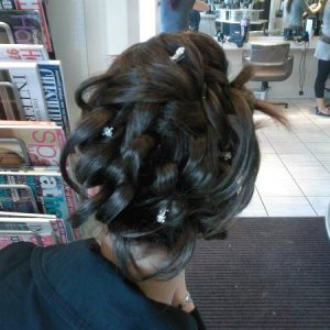 prom hair up with a hair piece