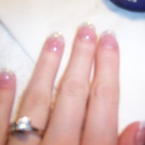 My glittery nails.  Rock star (young nails)