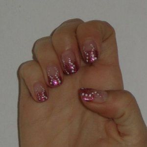 Glitter fade with dots