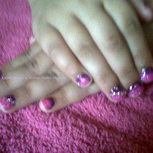 My Daughters rockstar nails.