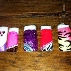 practising nail art