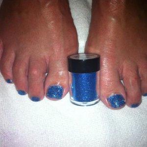 blue rockstar shellac toes