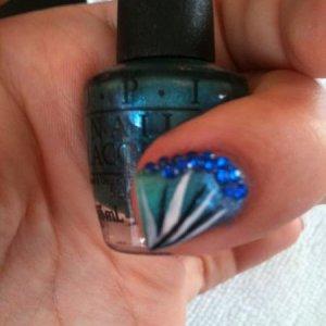 Nail art using O.P.I polish