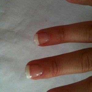 French polish using gels