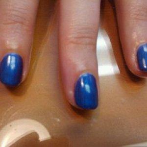 Shellac Purple Purple on natural nails.