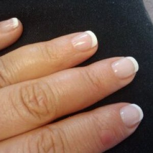 My first Brisa P&W Gels on myself. I was in a hurry, but what do you think for first time? Minus my longer middle finger:(