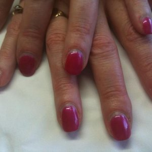 ManiQ Top Coat mixed with normal polish.  This has been on just over 2 weeks!