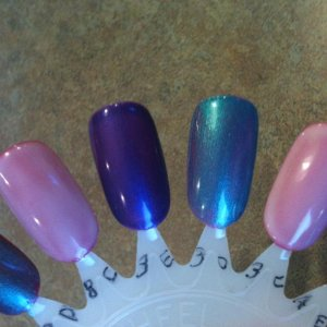 Wildfire layered with Studio White Hot Pop Pink layered with: Purple Purple Hotski to Tchotchke Studio White