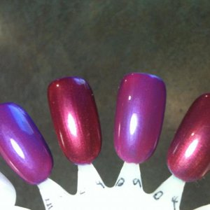 Purple Purple layered with: Tutti Frutti Hot Chilis Hotski to Tchotchke layered with: Tutti Frutti Hot Chilis
