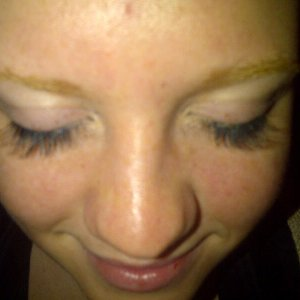 My 3rd attempt at semi-perm lashes, getting there slowly .......:)