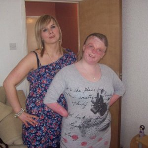 clair and lisa my eldest sister and youngest, the trouble sis louise isnt in the pic hehe x