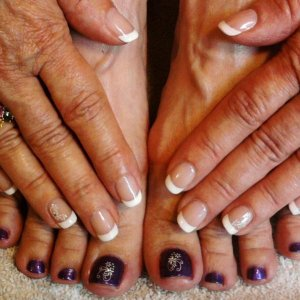 French Shellac with decals