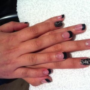 Black Thick French Wrap Plus with Design FX detail