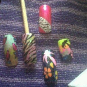5 nail art designs *Some Are Robin Moses Inspired Designs*