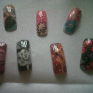 nail art handpainted