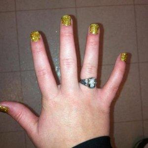 Rockstars, Ice Cappucino with gold glitter.