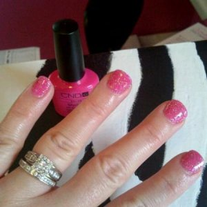 Rockstars, Hot Pop Pink with pink glitter.