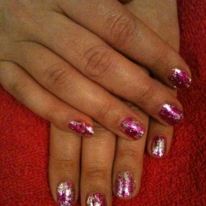 shellac and foil