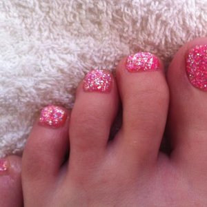 my first attempt at rockstar toes on myself!